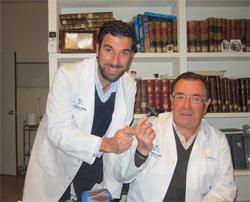 Drs. Bernáldez padre e hjo. Traumatólogos.